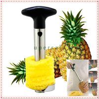 2 PCS Easy Fruit Pineapple Corer Slicer Peeler Parer Cutter Stainless Steel