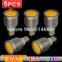 10PCS/LOT Energy saving 7W/9W COB LED Ceiling light/down light E27 E14 GU10 GU5.3 550-650LM COB Spotlights LED bulbs