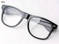 Free Shipping! 1 pcs/ lot Clear Lens Wayfarer Frame Glasses Black Brand Designer Sunglasses Men 9 Colors Can Choose