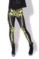 New Arrival Plus Size M XL Leggings For Women 2013 Fashion Mechanical Bones Black Leggings Digital Print Skull Leggings LB13560