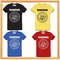 RAMONES man camiseta clothing rock hip hop mens fitness summer 2014 NEW t shirt men tee fashion camisas brand slim fit T-shirts