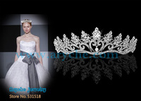 H009 New 2013 Fashion Bridal Wedding Tiaras And Crystal Zinc Alloy Crown