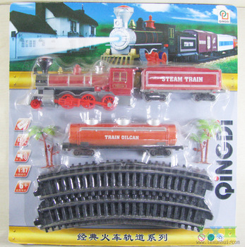 electric toy train sets 17pcs/set 1:87 plastic model railroad train railway with sounds and lights children's educational toy