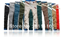 Trend Knitting   2013 new fashion Men's casual long pants 100% cotton Straight slim trousers  Plus-Size 29-36