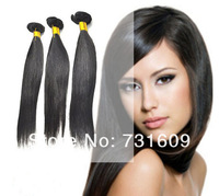 12in to 26in 100g/pc 3pcs lot brazilian virgin hair Extension 100% human hair straight hair weaves natural color free shipping