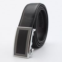 first generation cowskin leather Men's luxurious genuine Auto-lock steel Buckle belt top level cowskin leather #pk106-T2