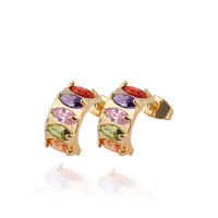 ERZ0115 Wholesale New 2013 Fashion Jewelry Stud Earrings 18K Gold Plated Inlay Zircon Crystal Pearl Beads Hot Selling