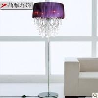 Chinese style modern crystal floor lamp living room floor lighting  bedroom lamp fashion floor lamp