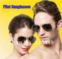 Fashion 16 colors Pilot Sunglasses Men&Women Coating Sunglass Mirror lens All Matching Glasses oculos de sol 1 pcs Free Shipping