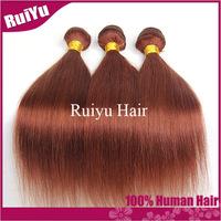rosa hair products:cheap brazilain straight human hair weave 3 pcs lot free shipping hotselling 33# red hair alibaba express