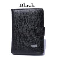 men's medium-long genuine leather wallet cowhide wallet men's wallet card holder wallets
