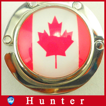 Canadian flag Foldable Glossy Handbag Bag Purse Hanger Hook Holder for Restaurant Dinning Wedding Party event tables