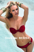 Holiday Sales 2014 Solid Cotton Fashion Brand for Women Sexy Bikini Swimwear Ladies And Beachwear Hot New Arrival! Shipping