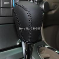XuJi Black Genuine Leather Gear Shift Knob Cover for Toyota Corolla Highlander EZ Camry Old RAV4 Automatic