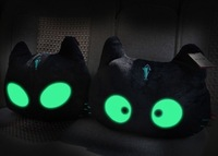 New hot sales night luminous cats meow star people car pillows 2 or more optional wholesale China post free shipping