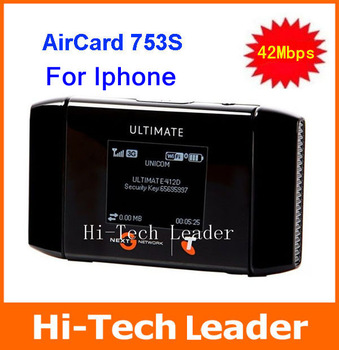 Free shipping AirCard 753S  Unlocked 42Mbps Wireless Hotspot WiFi Mobile Broadband Modem 4G Router 4G wifi Wireless Router
