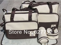 Free shipping! Mother infanticipate mummy Babies bags fashion nappy bag multifunctional double-shoulder cross-body 5 piece set