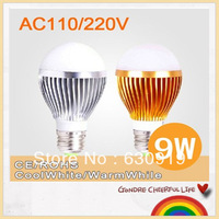 6pcs  High power 265VE14 E27 B22 GU10 9w/12w  Dimmable AC85- Bubble Ball Bulb free shipping