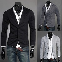 fashion hot sale high quality low profit Mens casual Stunning slim fit Jacket Blazer Short Coat two Button suit
