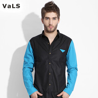 New 2013 Autumn- summer Men Shirt, Long Sleeve Casual Shirt,  VaLS Brand, 35% Cotton+65% Polyester, Free Shipping