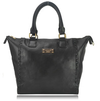 New Arrival 2013 Fashion Shoulder Bag with Metal Fitting Women's Tote Black Big Bag Free Shipping CT15195