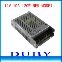 NEW MODEL 12V 10A 120W Switching Power Supply Driver For LED Strip light Display AC100V-240V Input,12V Output Free Shipping