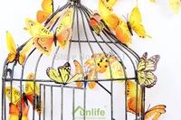 Funlife Pop Yellow Series12pcs Mix Assorted 3D Vivid Fridge Magnet  Butterfly Glue Tape as Free Bonus Free Shipping fltb1355