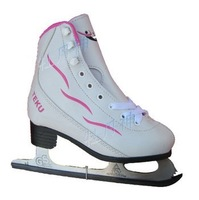 women and child Figure  skates ice skates shoes  white hockey skates