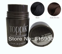 Free shipping Brand Toppik 100% Naturally Keratin Building Hair Fibers Powders for Unisex Solutions 10.3g Black and Dark Brown