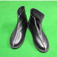 size37-45 jini fashion men's front zipper genuine leather cowhide black ankle boots male catwalk show ankle boots JLL2 sale