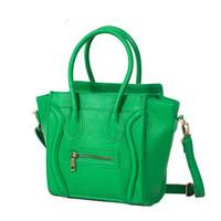 Fashion Star Style Women Handbag Top Quality Trapeze Bat Wing Smily Bags Woman Messenger Bags Mini