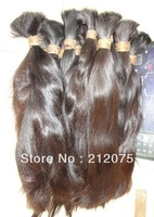 "8-38""inches  High quality  Virgin human hair *Remy Human Hair *  bulk  virgin hair *1kg/lot*  DHL FREE SHIPPING"