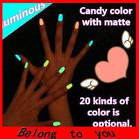 Free shipping 10pcs/lot 20 colors Popular Luminous Nail Polish nail art / Fluorescent nail Enamel
