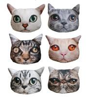 cushion pillow cute plush animal pillow pets animated outdoor Sofa cushion big cat shaped very realistic Car Seat birthday gift