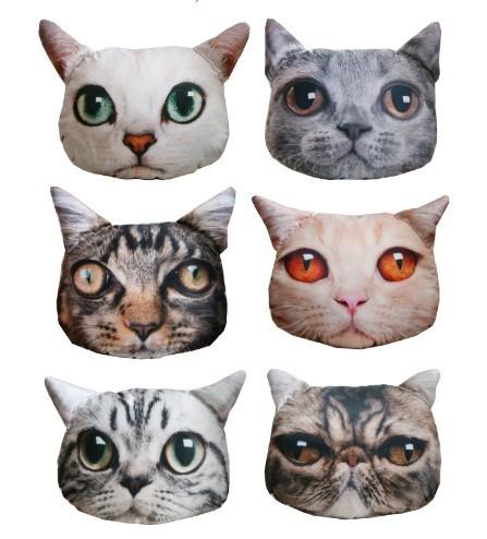 cushion pillow cute plush animal pillow pets animated outdoor Sofa cushion big cat shaped very ...
