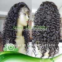 "100% virgin hair lace front wigs Cuticle Human Hair 3"" Large paring Deep Wave glueless brazilian virgin hair lace front wig"