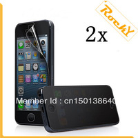 2X Korea Material Anti-Spy Privacy Screen Protector Guard Cover Film For iPhone 5(Free shipping)
