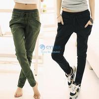 New Women's Solid Color Loose Pencil Pants Casual Long Trouser 3 Colors #005 17576