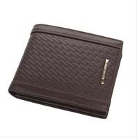 Carteiras Masculinas Couro Credit Card Holder Men Wallets Leather Genuine Bifold Short Design 100% Cowhide Small Purse Men