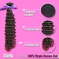 "4 pcs/lot  Malaysian Deep Curly 12""-28"" Available, Tight and Soft Virgin Malaysian Human Hair Extension Deep Curly Free Shipping"