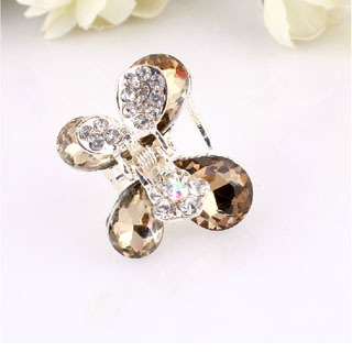 Alloy Drilling Water Hairpins Crystal Hair Grip Accessories(China (Mainland))