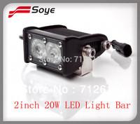 2014 NEW ! 2'' 20W CREE led  light bar, adjustable for off road led lighting bar  spot /flood/como work light