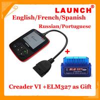 2014 Hot Launch Creader VI plus scanner creader 6 plus OBD car diagnostic tools free shipping