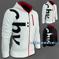 2014 Casual Slim Hoodie, Brand Fashion Letter Printing Fleece Hoodies Men, Sportswear Sweatshirts Men,Zipper Man Hoody