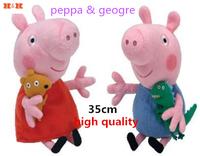[HWP] Hold bear peppa pig and dinosaur george pig pink cartoon Stuffed Animals & Plush
