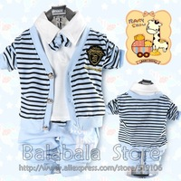Free shipping hot 3set/lot Baby Suits Children Clothes Spring Autumn Outer Cotton T-shirt Pants Toddler Sweat Suits