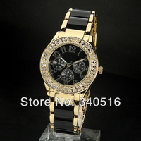 2013 New Design Luxury Brand Fashion Women Wrstwatches With Crystal Stone Diamond Clock Hot Sell Hours Dropship Watch