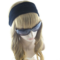 Black Solid  Lint  Hair Accessories  Fashion Wide headwrap For Women