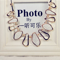 2013 NEW Fashion European and American the geometric frosted necklace Brief paragraph clavicle necklace edition Suprising Shop