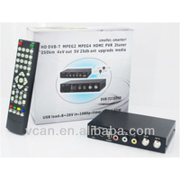 dvb t car receiver H.264 2 tuner PVR USB Record